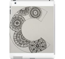 mandala patterned letter C iPad Case/Skin