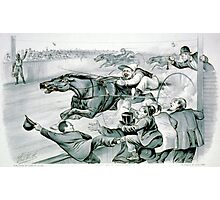 First under the wire - 1878 Photographic Print