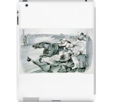 First under the wire - 1878 iPad Case/Skin