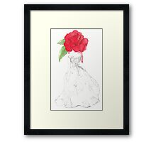 Rose Red Goes To The Ball. Framed Print