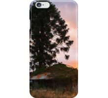Abandoned farming shed in the country iPhone Case/Skin