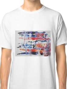 Zebras have black and white in them and get along can't we all? Colored Zebras - Original Wall Modern Abstract Art Painting Classic T-Shirt