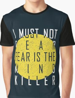 Dune - The Litany Against Fear (White) Graphic T-Shirt