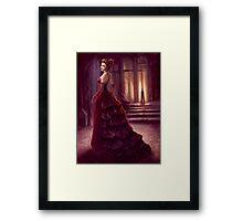 Fantasy Lady in Dark Chamber Digital Painting Framed Print