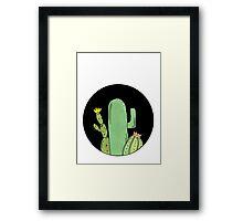 Circle Cacti Framed Print