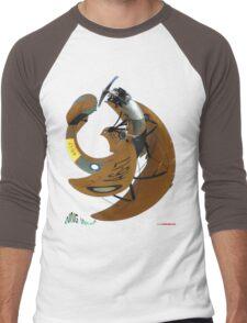 Avro Cadet A6-17 Wing Warp T-shirt Design Men's Baseball ¾ T-Shirt