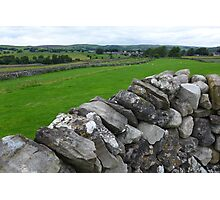 Dry stone wall and fields in the Yorkshire Dales Photographic Print
