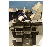 The Flying Dog by Billy Bernie Poster