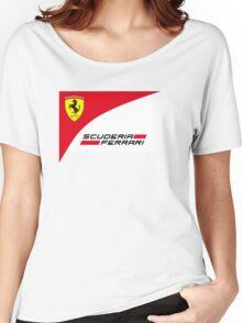 logo Scuderia Ferrari team formula one Women's Relaxed Fit T-Shirt