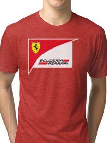 logo Scuderia Ferrari team formula one Tri-blend T-Shirt