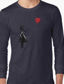 Banksy - Girl with Balloon Long Sleeve T-Shirt