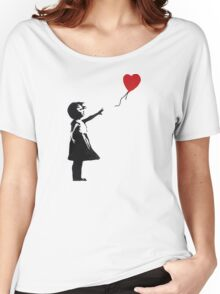 Banksy - Girl with Balloon Women's Relaxed Fit T-Shirt