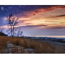Beach At Sunset - Erie, PA Photographic Print