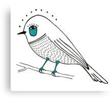 sad bird Canvas Print