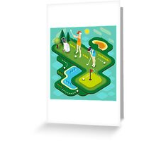 Golf Match Women Greeting Card