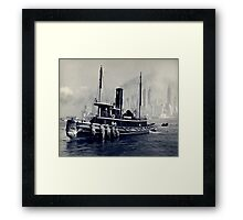New York Vintage boat picture Framed Print
