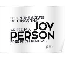 joy person - buddha Poster