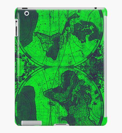 World Map (1691) Green & Blue  iPad Case/Skin