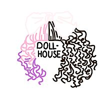 Dollhouse Hair and Lyrics Design  Photographic Print