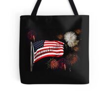 Flag and Fireworks Tote Bag