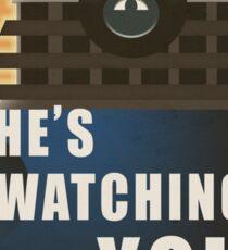 He is Watching You! Sticker