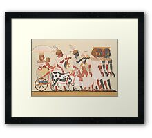 Vintage Egyptian illustration circa  Framed Print