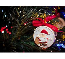 Christmas ornaments Santa on the Christmas tree Photographic Print