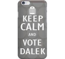 Keep calm and vote Dalek iPhone Case/Skin
