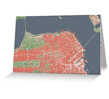 San Francisco map classic Greeting Card