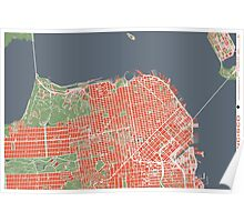 San Francisco map classic Poster