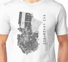San Francisco map classic Unisex T-Shirt