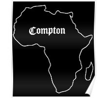 Compton - Africa (white) Poster