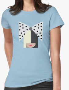 Sia (Black) Womens Fitted T-Shirt