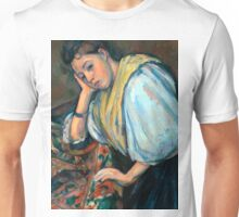 1895 - Paul Cezanne - Young Italian Woman at a Table Unisex T-Shirt