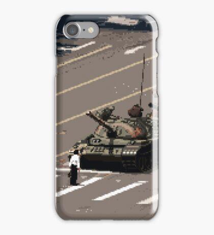 Tank Man – History in Pixels iPhone Case/Skin
