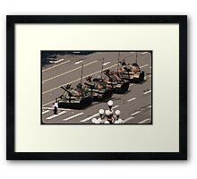 Tank Man – History in Pixels Framed Print