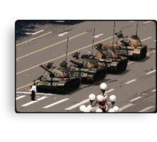 Tank Man – History in Pixels Canvas Print