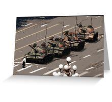 Tank Man – History in Pixels Greeting Card