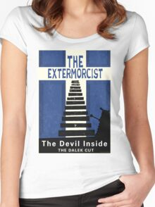 The Devil Inside. The Dalek Cut. Women's Fitted Scoop T-Shirt