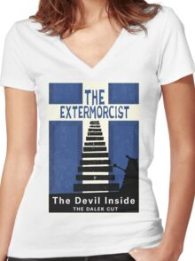 The Devil Inside. The Dalek Cut. Women's Fitted V-Neck T-Shirt