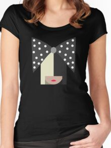 Sia (Black) Women's Fitted Scoop T-Shirt