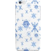 Watercolor Blue Snowflakes iPhone Case/Skin