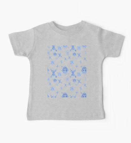 Watercolor Blue Snowflakes Baby Tee