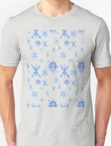 Watercolor Blue Snowflakes T-Shirt