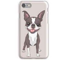 Smiling dog Boston Terrier  iPhone Case/Skin