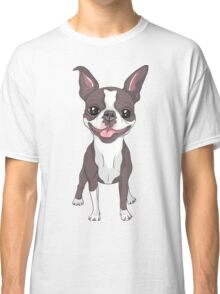 Smiling dog Boston Terrier  Classic T-Shirt