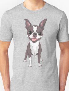 Smiling dog Boston Terrier  Unisex T-Shirt