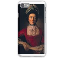 Allan Ramsay-Miss Ramsay in a Red Dress, iPhone Case/Skin