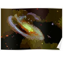 Spiral Galaxy Abstract Poster