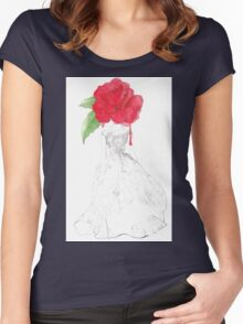 Rose Red Goes To The Ball. Women's Fitted Scoop T-Shirt